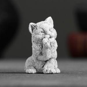 """Сувенир """"Котенок умывается маленький"""" 4,5см   4012001"""