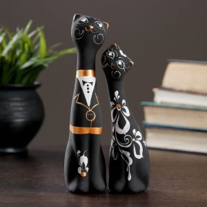 """Фигура """"Love Коты"""" малые набор 2шт черные 4 ? 5 ? 17,5 см 040 707387"""