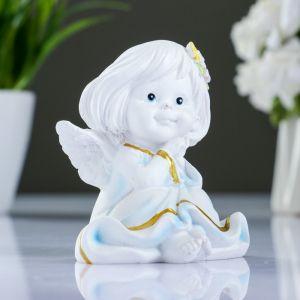 """Фигура """"Ангел с двумя цветочками в волосах"""" 7х8х9см   3928085"""