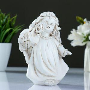"Фигура ""Ангел с фонариком"" антик 9х8х15см   3928086"