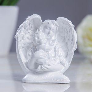 """Фигура """"Ангелочек с младенцем"""" 4х6,5х7см  3889479"""