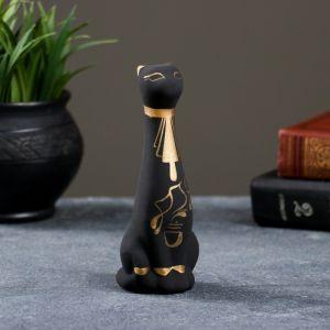 """Фигура """"Кот Египетский"""" малый роспись чёрный 5 ? 5,5 ? 15 см 002 772086"""