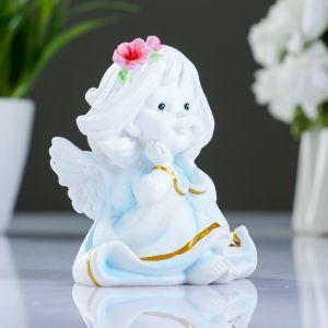 """Фигура """"Малышка-ангел с цветами в волосах"""" 7х8х9см   3928094"""