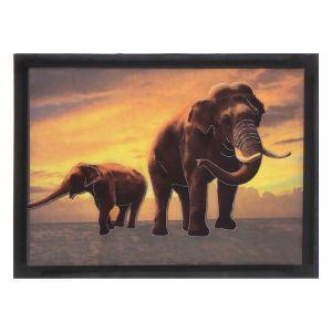 "Наклейка интерьерная пластик картина ""Слоны"" 31х23,5 см 1717737"