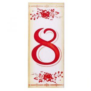 """Цифра дверная из дерева """"8"""", букет, 3*7 см   2190134"""