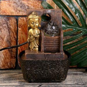 """Фонтан настольный от сети """"Маленький будда у фонтана-лестницы"""" 18,5х10х14,5 см   4438705"""