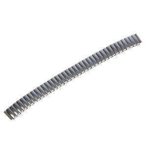Ремешок для часов 12 мм, металл, протектор звенья объёмные, хром, 15 см 1716863