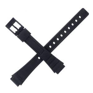 Ремешок для часов 12 мм, чёрный, 18 см 1716871