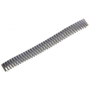 Ремешок для часов 14 мм, металл, протектор звенья объёмные, хром, 15 см 1716864