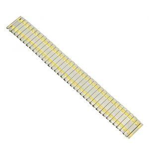 Ремешок для часов 18 мм, металл, звенья золото, 15.5 см 1723648