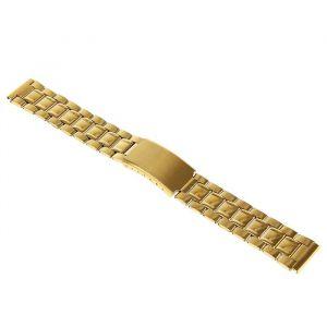Ремешок для часов 18 мм, металл, золотой, 18 см 1992017