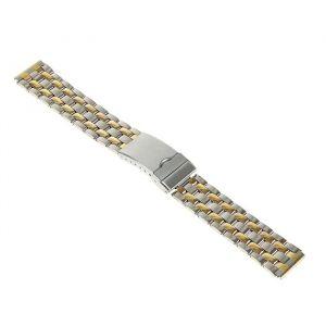 Ремешок для часов 18 мм, металл, плетение хром, 18 см 1992012