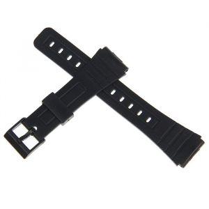 Ремешок для часов 20мм, PVC, 19см, черный 1716872