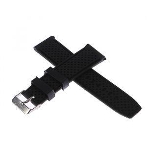 Ремешок для часов 22мм, силикон, 20.5см, черный, микс 1723655