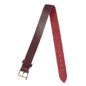 Ремешок для часов, женский, 12 мм, натуральная кожа, бордо микс 1182118
