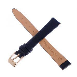 Ремешок для часов, женский, 12 мм, натуральная кожа, черный 1182121