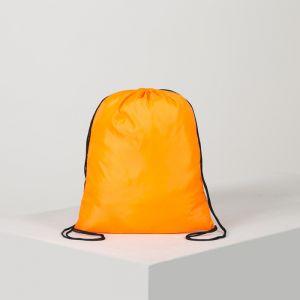Мешок для обуви, отдел на шнурке, цвет оранжевый
