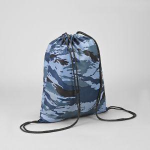 Мешок для обуви 420 х 350, Calligrata, МСО-К, камуфляж, цвет синий