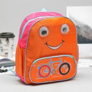 Рюкзак детский, отдел на молнии, 3 наружных кармана, цвет оранжевый