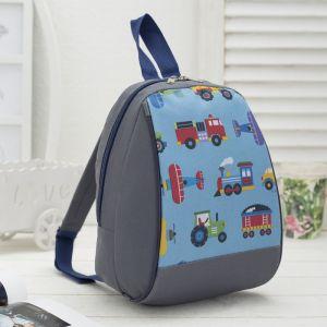 Рюкзак детский, отдел на молнии, цвет серый