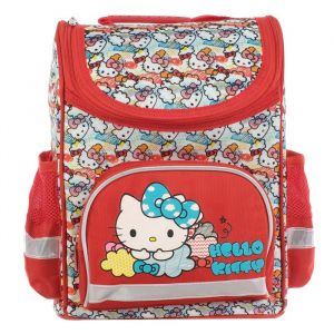 Ранец Стандарт Hello Kitty 32*25*13 дев, красный   4539069