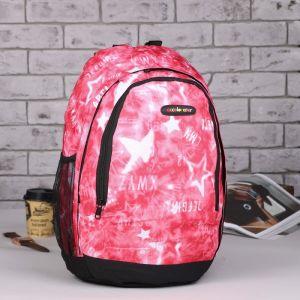 Рюкзак школьный, отдел на молнии, наружный карман, 2 боковых сетки, цвет красный