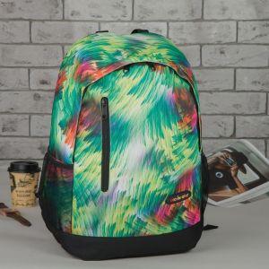Рюкзак школьный, отдел на молнии, наружный карман, 2 боковых сетки, цвет зелёный