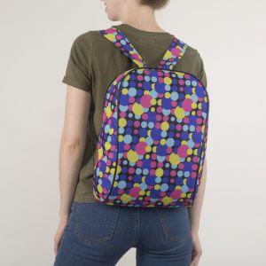 Рюкзак школьный, отдел на молнии, цвет разноцветный