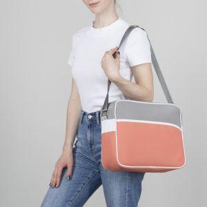 Сумка молодёжная, отдел на молнии, наружный карман, регулируемый ремень, цвет розовый