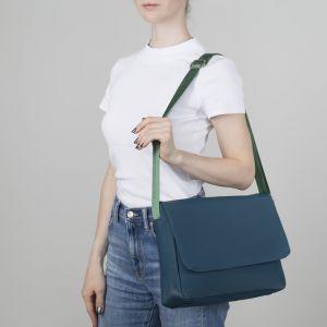Сумка молодёжная, отдел на молнии, наружный карман, регулируемый ремень, цвет зелёный