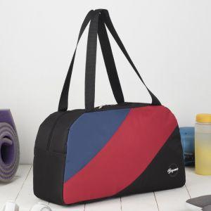 Сумка спортивная, отдел на молнии, наружный карман, цвет чёрный/красный/синий