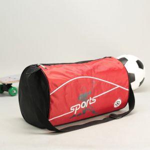Сумка спортивная, отдел на молнии, длинный ремень, цвет красный