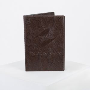 Обложка для паспорта и автодокументов с вкладышами ПВХ, цвет коричневый
