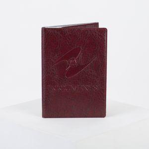 Обложка для паспорта и автодокументов с вкладышами ПВХ, цвет бордовый