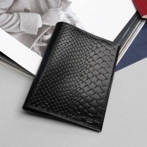 Обложка для паспорта, питон, цвет чёрный