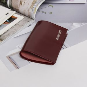 Обложка для паспорта, тиснение, цвет бордовый глянцевый