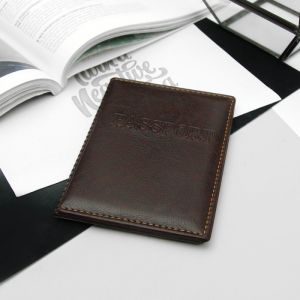 Обложка для паспорта, прошитый, цвет бордовый