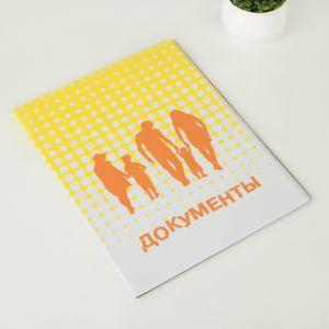 Папка для семейных документов, 1 комплект, цвет жёлтый