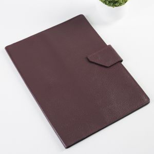 Папка для документов на кнопке, 1 комплект, цвет бордовый