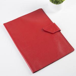 Папка для документов на кнопке, 1 комплект, цвет красный