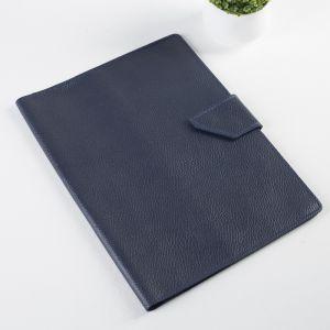 Папка для документов на кнопке, 1 комплект, цвет синий