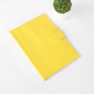 Папка для документов на кнопке, 1 комплект, цвет жёлтый