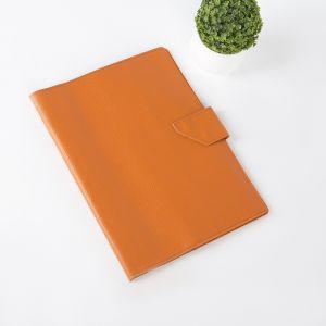Папка для документов на кнопке, 1 комплект, цвет оранжевый