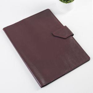 Папка для документов на кнопке, 2 комплекта, цвет бордовый