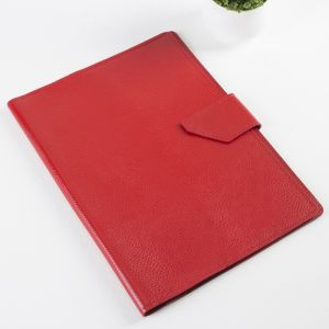 Папка для документов на кнопке, 3 комплекта, цвет красный