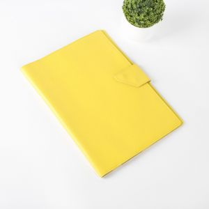 Папка для документов на кнопке, 3 комплекта, цвет жёлтый