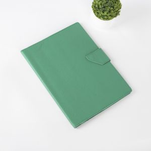 Папка для документов на кнопке, 3 комплекта, цвет зелёный