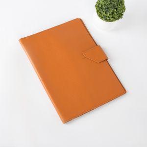 Папка для документов на кнопке, 3 комплекта, цвет оранжевый