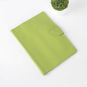 Папка для документов на кнопке, 3 комплекта, цвет салатовый