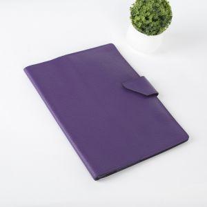 Папка для документов на кнопке, 3 комплекта, цвет фиолетовый